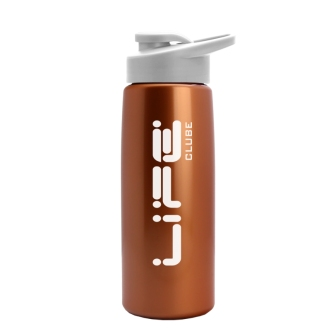 26 oz Metallic Flair Bottle - Drink Thru Lid