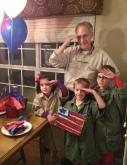 Jim with Stephanie's three kids