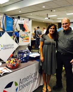 Stephanie and Jim attending a tradeshow